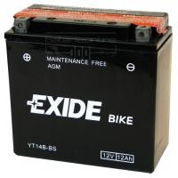 EXIDE MOTO AGM ET14B-BS 12V 12Ah MAINT.FREE